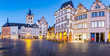 Historic city center of Trier in twilight, Rheinland-Pfalz, Germany