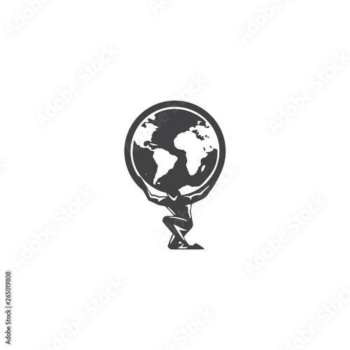 atlas logo vector Wallpaper Mural