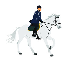 Elegant Horse With Jockey Vect...