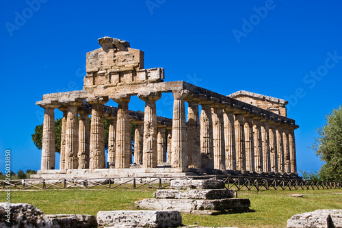 Temple of Athena, Paestum Wallpaper Mural