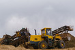sand and gravel separator and bucket loader