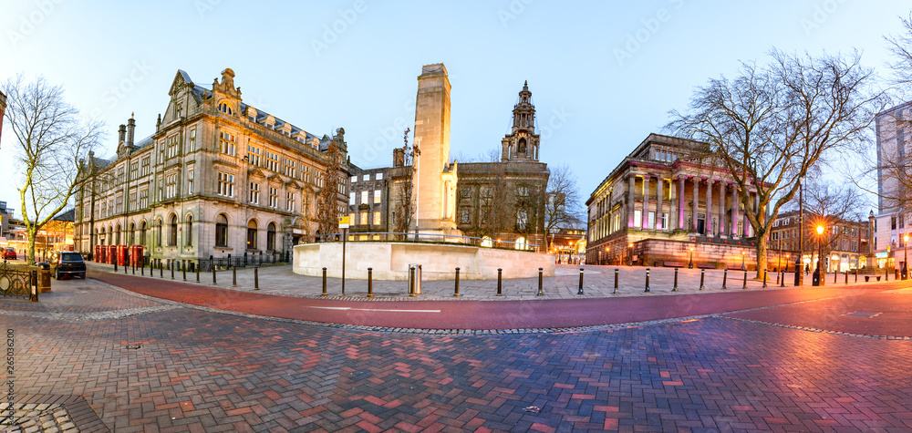 Fototapeta Famous landmarks of a Preston city in one frame