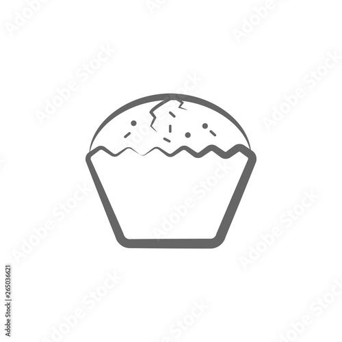 enriched bun, bread hand drawn icon Tablou Canvas
