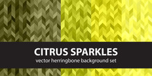 Herringbone Pattern Set Citrus...