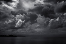 Dark Clouds For Black Stormy Weather Background