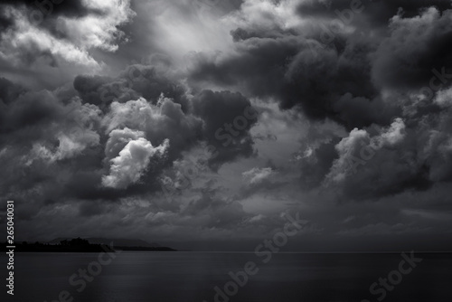 Carta da parati dark clouds for black stormy weather background