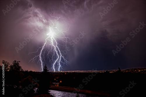 Lightning storm over Boise Idaho #265041894