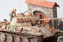 "Miniature With German Tank ""Pa..."