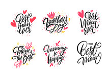 Happy Mother Day Set Lettering...