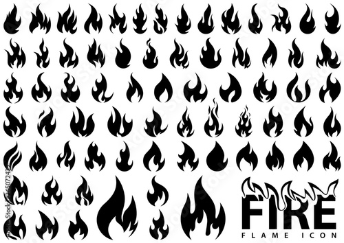 Fotografie, Obraz Fire,Flame,Icon,Sign,Symbol,Flaming,Bonfire,Burning,Fiery,Fireplace,Flammable,In
