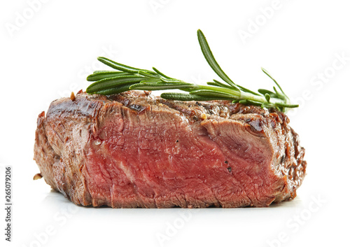 Photo  grilled beef fillet steak meat