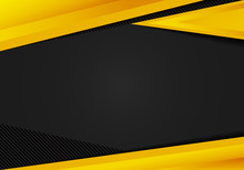 Abstract Template Yellow Geometric Triangles Contrast Black Background. You Can Use For Corporate Design, Cover Brochure, Book, Banner Web, Advertising, Poster, Leaflet, Flyer.