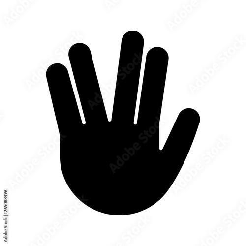 фотография Vulcan salute emoji glyph icon