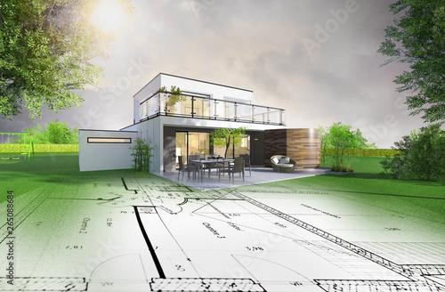 Projet de construction d'une maison individuelle d'architecte #265088684