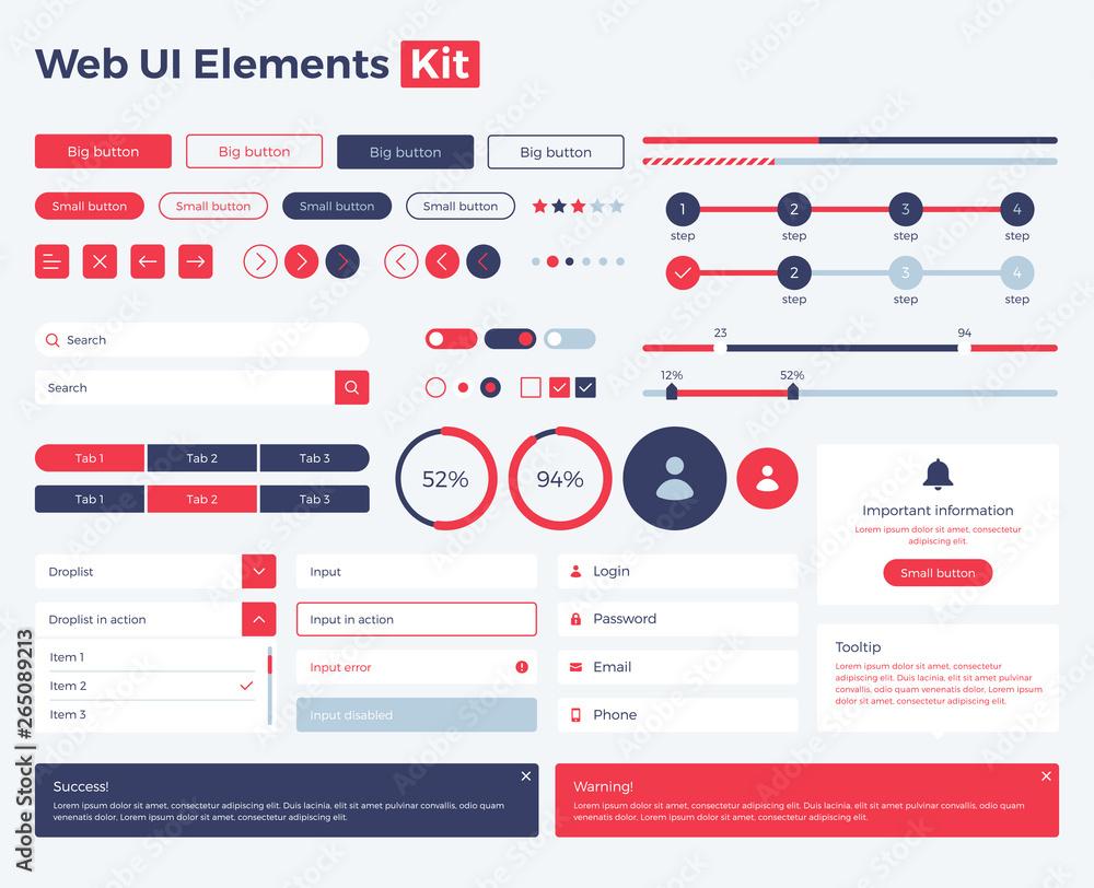 Fototapeta web-ui-elements-kit copy