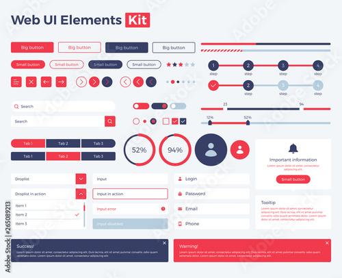Obraz web-ui-elements-kit copy - fototapety do salonu