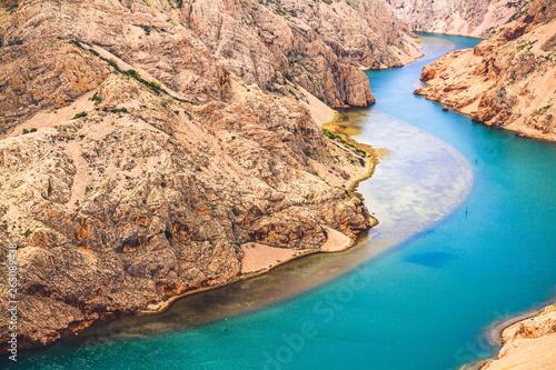 Kanion rzeki Zrmanje w Chorwacji. - fototapety na wymiar