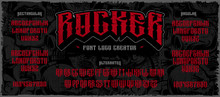 Rocker Display Font Logo Creat...