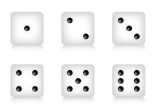 Set Di Icone Dadi Da Gioco Con Numeri In Ordine Crescente