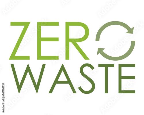 Fotografia, Obraz Zero waste logo - ecologia sostenibile