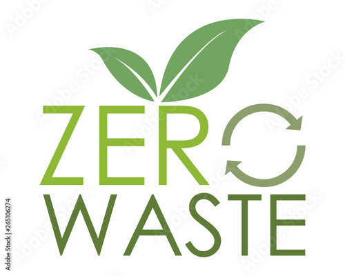 Photo  Zero waste logo - ecologia sostenibile