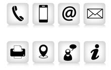Dadi Icone Con Simboli Contatti E Comunicazione