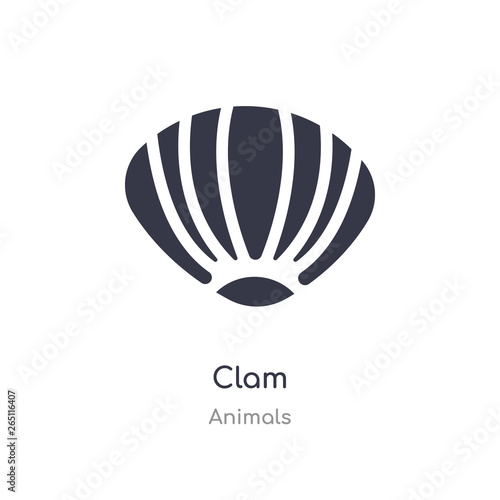 clam icon Canvas Print