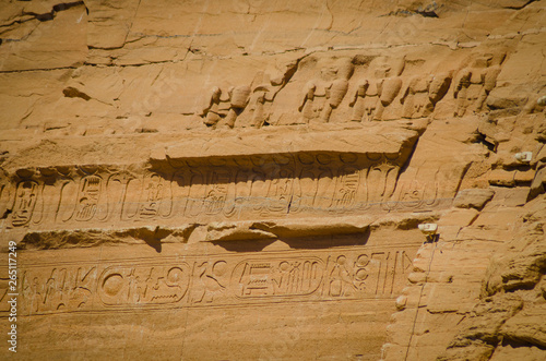 Obraz na plátne  The Temple of Ramses II or Templo Mayor de Abu Simbel.