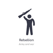 Rebellion Icon. Isolated Rebellion Icon Vector Illustration From Army And War Collection. Editable Sing Symbol Can Be Use For Web Site And Mobile App