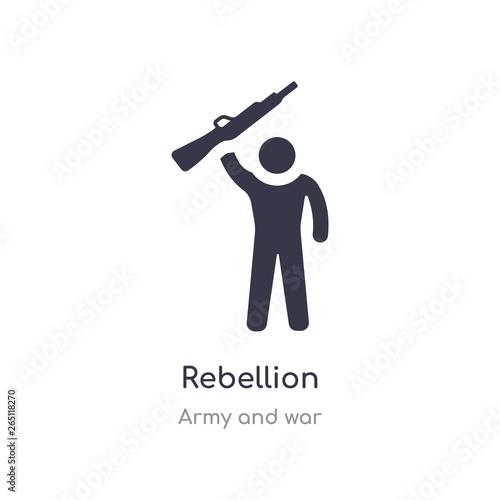 Fototapeta rebellion icon