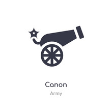 Canon Icon. Isolated Canon Ico...