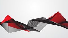 Abstract Red Black Background Concept Vector Graphic Design.