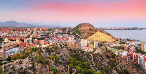 Foto Spain, Alicante city at sunset
