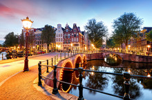Amsterdam At Night, Netherlands