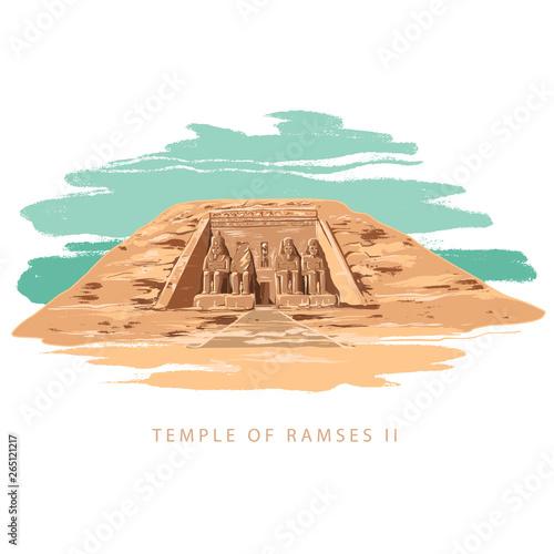 Fotografie, Obraz  The Great Temple at Abu Simbel, Egypt
