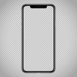new vector Smartphone template for web interface, app demo mockup. No frames and blank screen on transparent backround