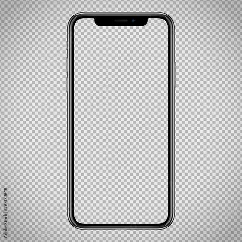 Fotografie, Obraz  new vector Smartphone template for web interface, app demo mockup