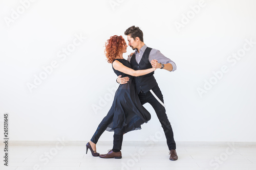 Fotografie, Obraz  Social dance, kizomba, tango, salsa, people concept - beautiful couple dancing b