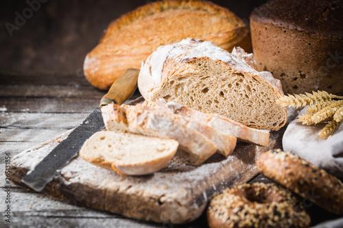 Door stickers Bread Fresh slice bread