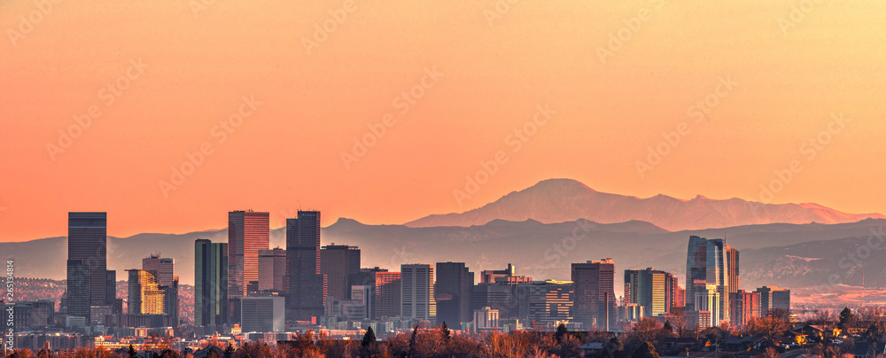Fototapety, obrazy: Denver skyline panorama - High Resolution