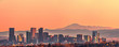 canvas print picture - Denver skyline panorama - High Resolution