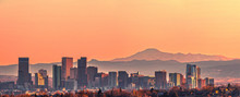 Denver Skyline Panorama - High...