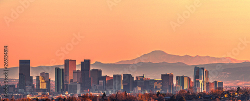 Fototapeta Denver skyline panorama - High Resolution  obraz