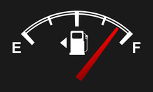 Fuel Gauge For Your Design. Full And Empty Signs. Vector Illustration.
