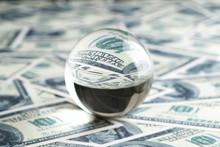 Glass Ball On Dollars. Dollar ...