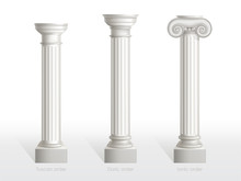 Antique Columns Set Of Tuscan,...