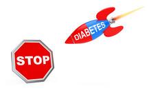 Stop Diabetes Concept. Stop Si...