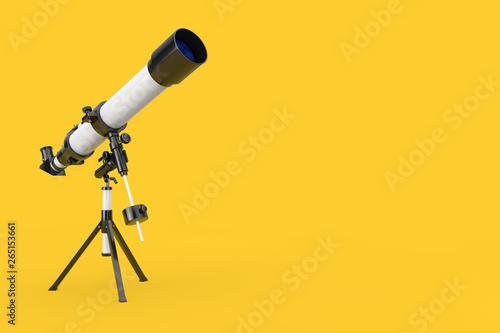 Fototapeta White Modern Mobile Telescope on Tripod. 3d Rendering obraz