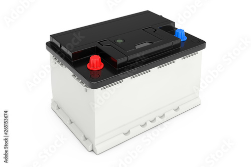 Canvas Print Rechargeable Car Battery. 3d Rendering