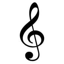 Treble Clef On White Background